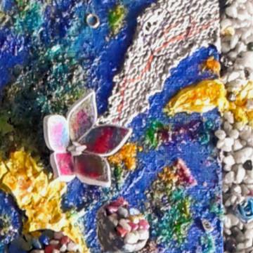 Coral, mixed media art