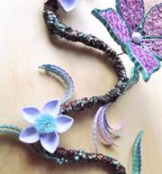 Flower branch art
