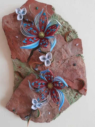 Vibrant quilled flowers