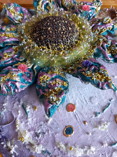Mixed media flower art