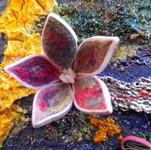 Needle felted flower