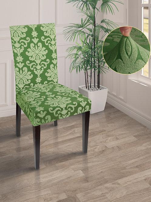 Чехол жаккард на стул Зелёный
