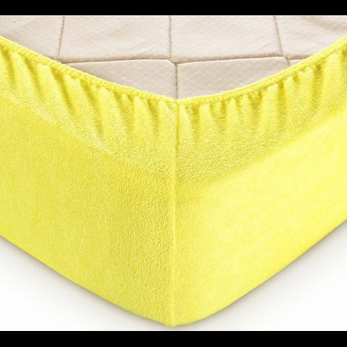 Простынь на резинке Махровая Желтый