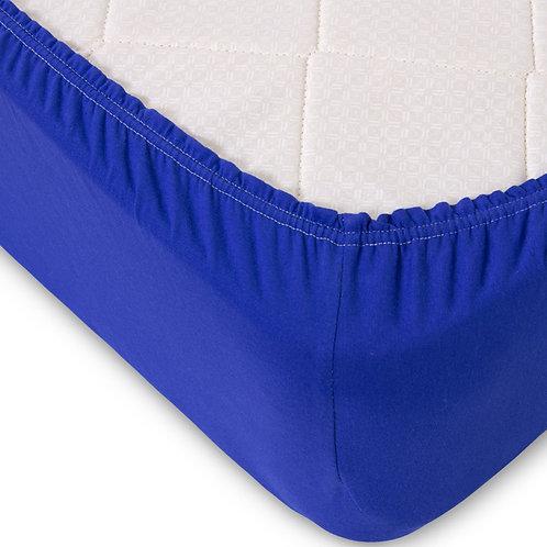Простынь на Резинке Трикотаж цвет синий