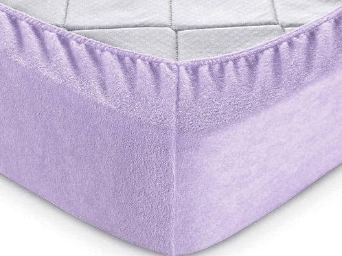 Простынь на резинке Махровая Фиолет
