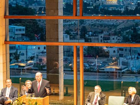Apostle Elder Cook and the Widtsoe Foundation In Jerusalem