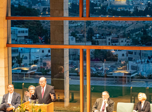 Apostle Elder Cook and the Widtsoe Foundation Jerusalem
