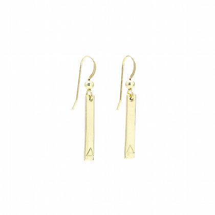 Boucles d'oreilles Gold Triangle