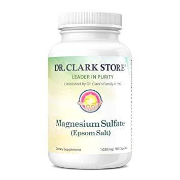 Magnesium Sulfate (Epsom Salt) - 100 Caps