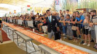 שיא הפיצה הארוכה בעולם נשבר שוב ב-2016