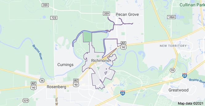 "<img src=""RichmondTXMap.gif"" alt=""Pool service area map of Richmond TX"""