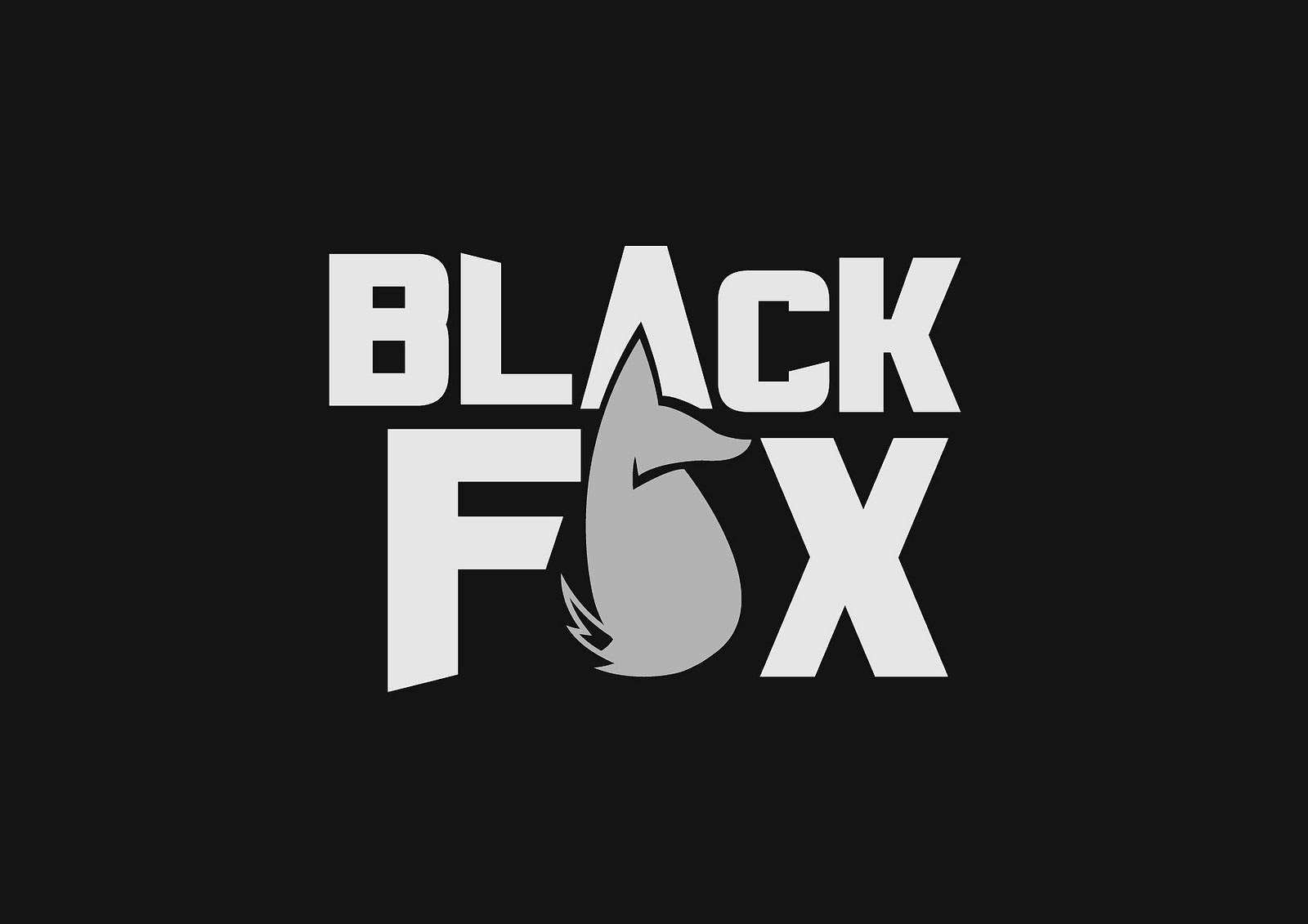 Black Fox logo and branding design