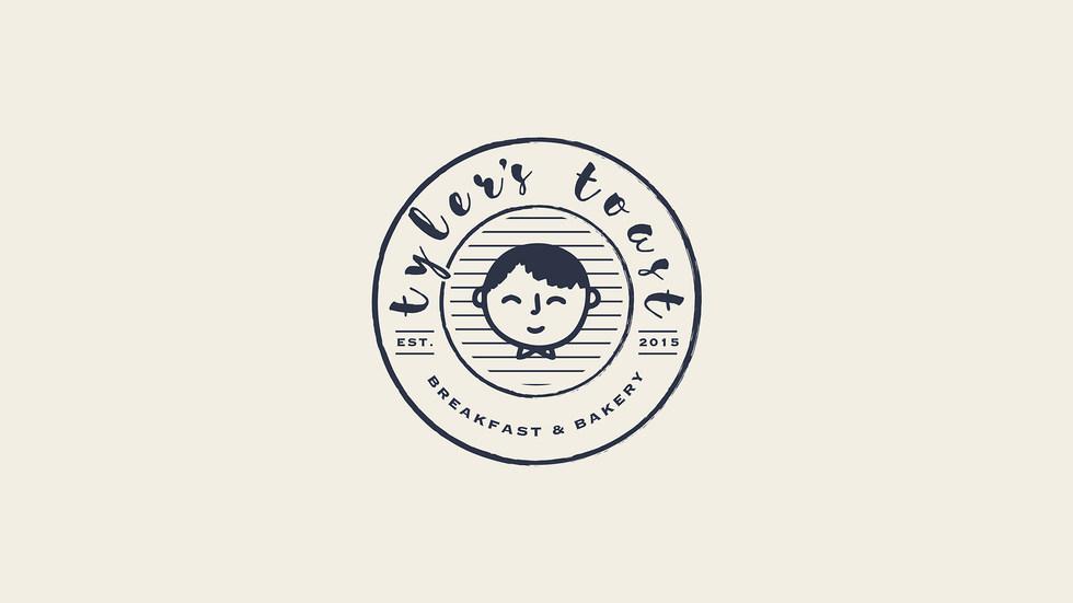 Tyler's Toast logo, branding and website