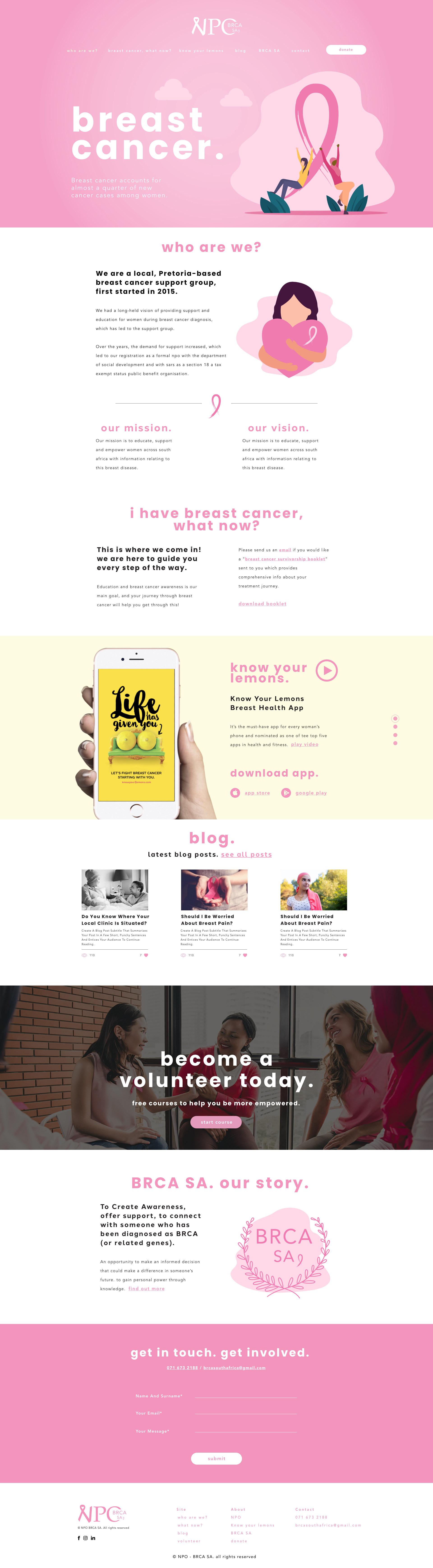 NPO website redesign