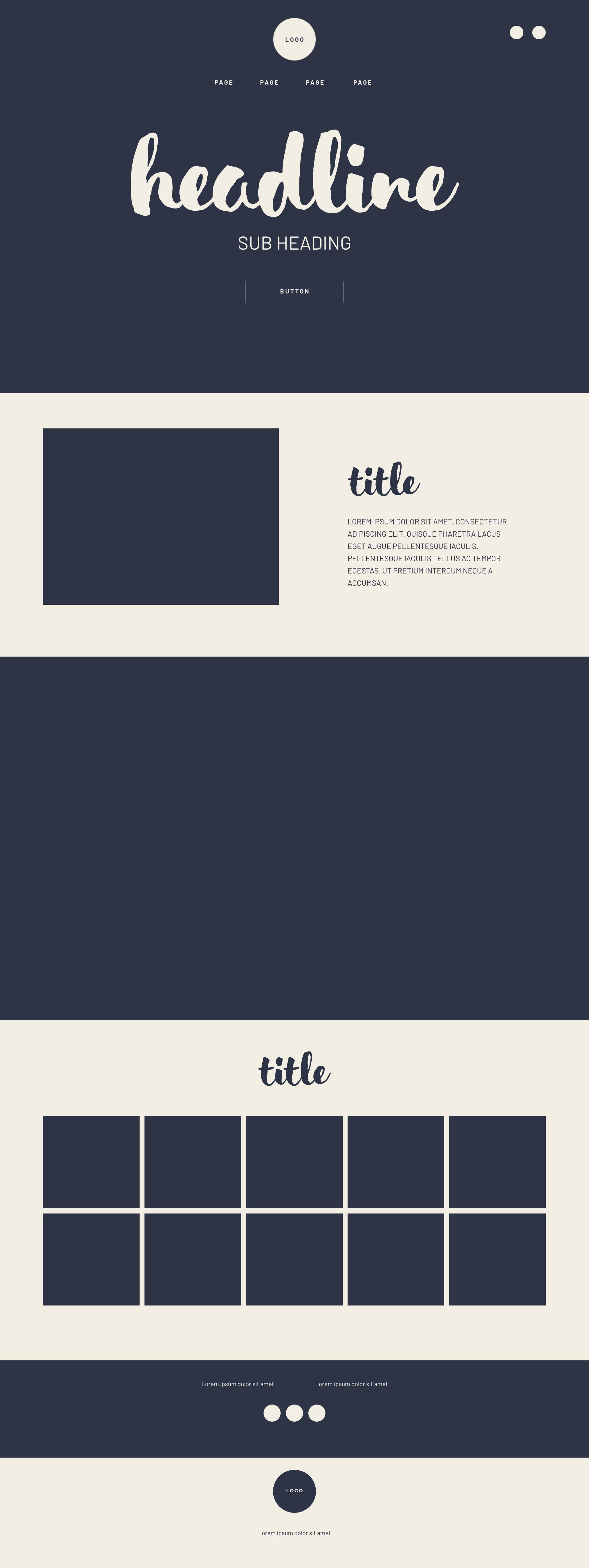Tyler's Toast logo, branding and web design wireframes