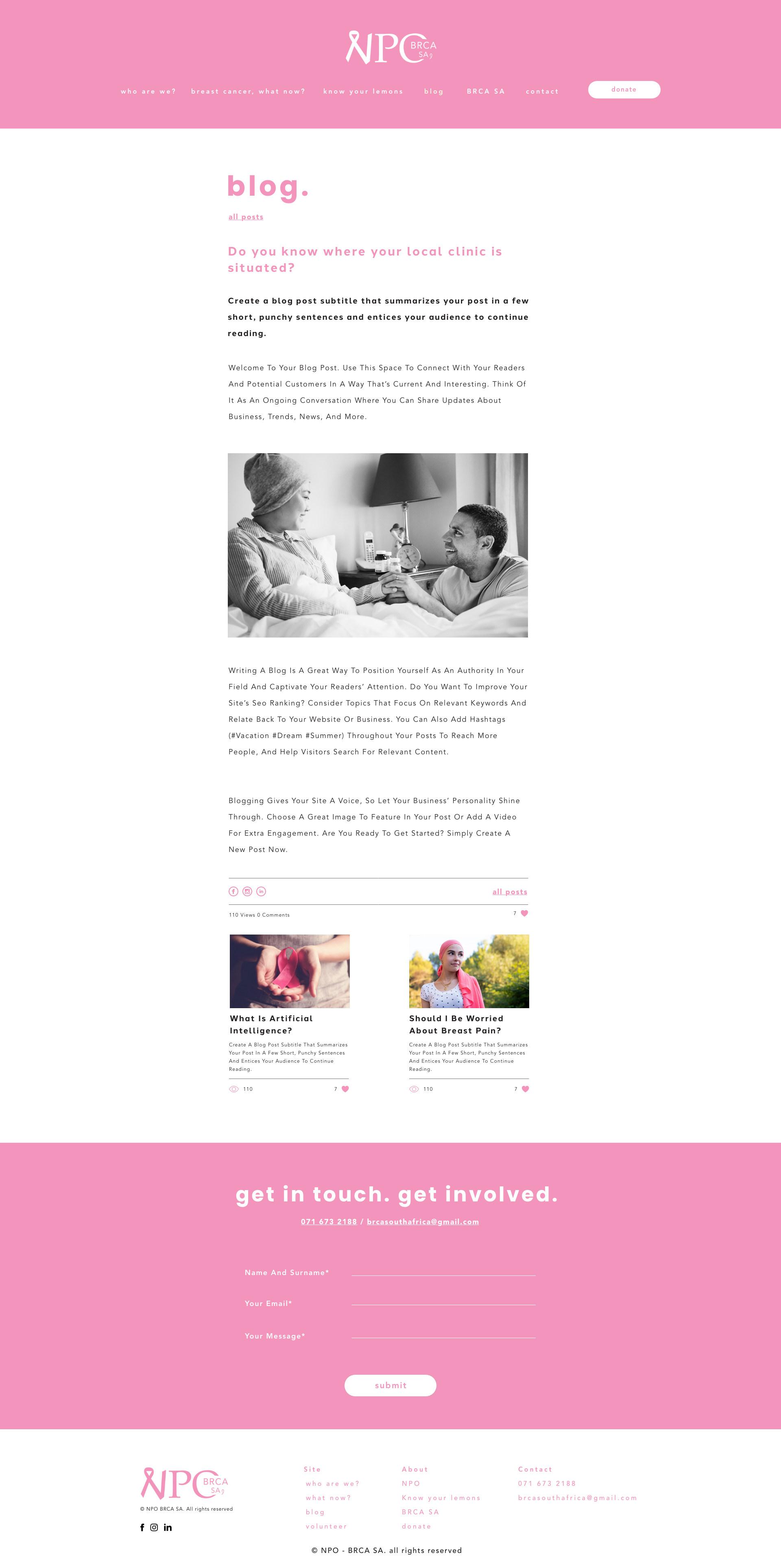NPO Blog