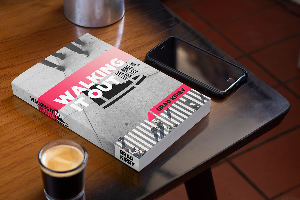 Walking It Out Book Mockup Coffee Phone