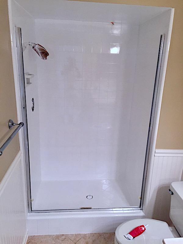 Tile Shower Reglazed