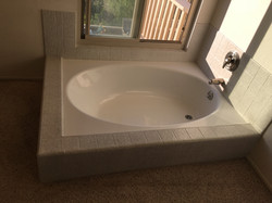 stained tub before