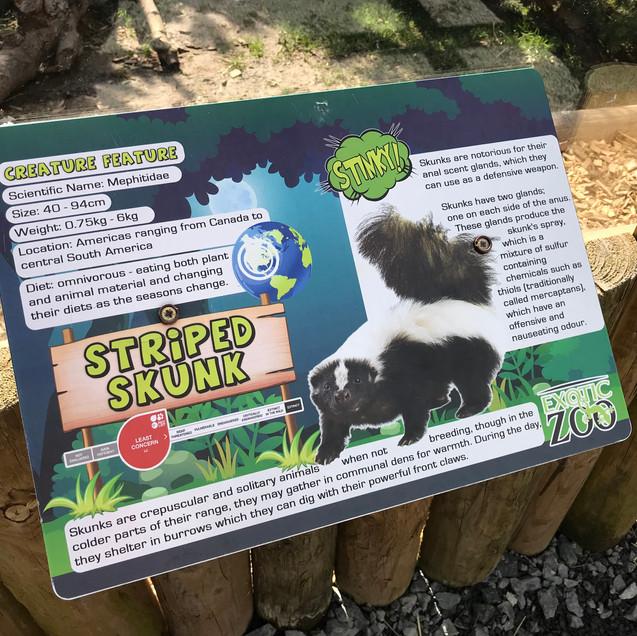 Exotic Zoo Animal Info Signage