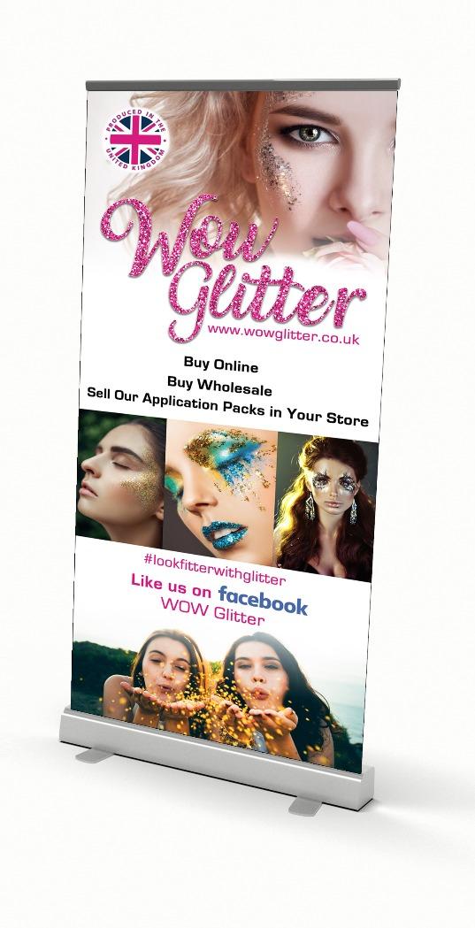 Wow Glitter Banner