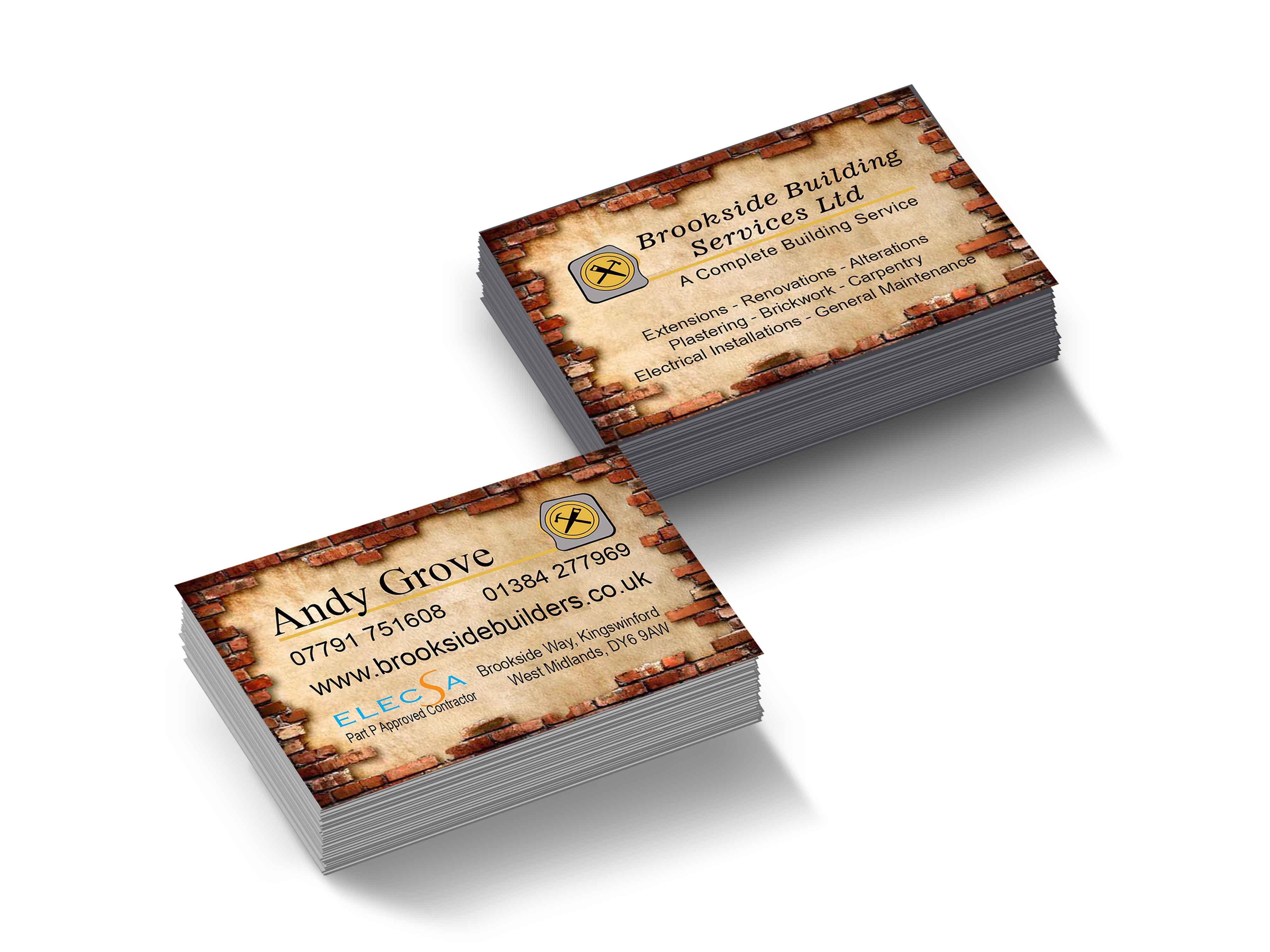 Brookside Builders Business Cards