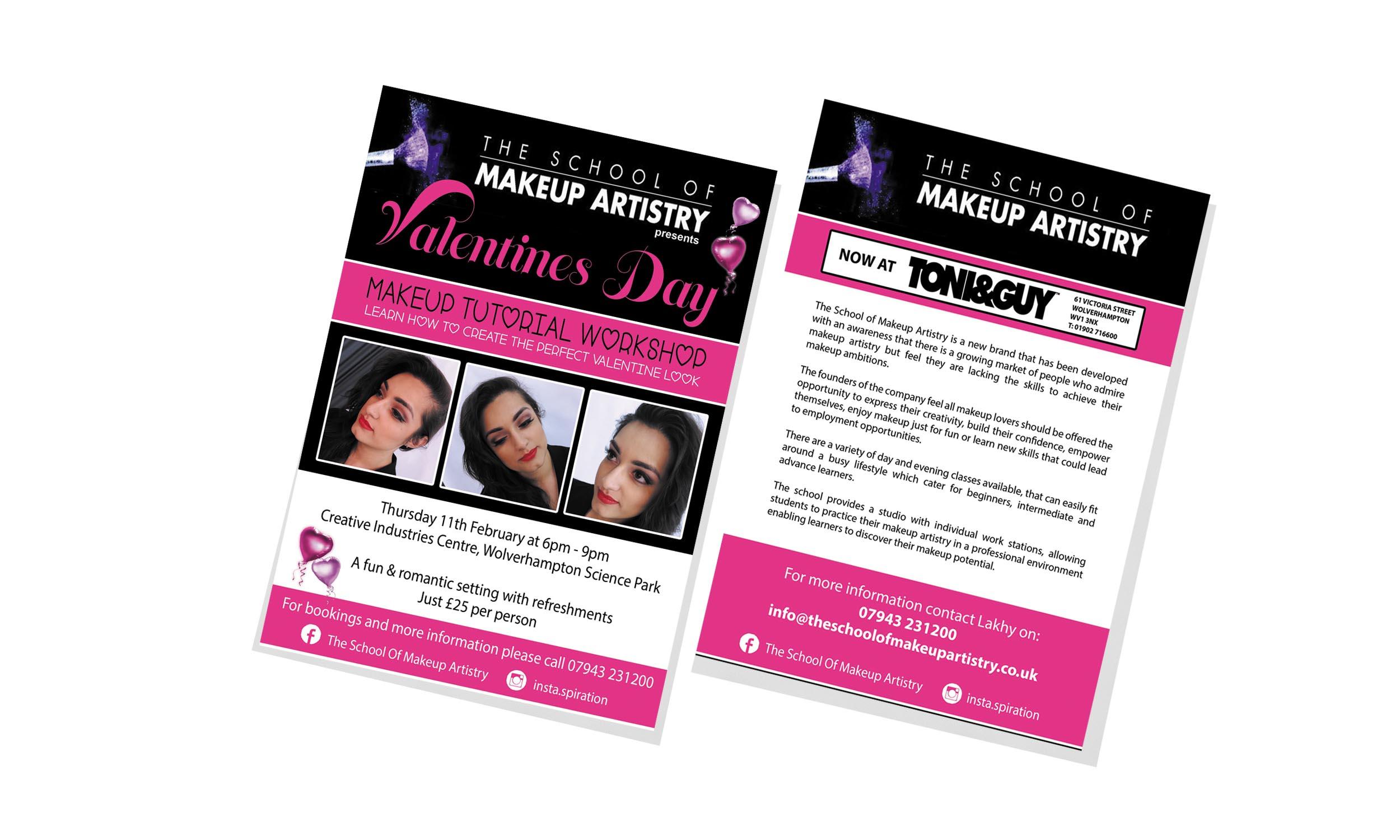 School of Makeup Leaflet