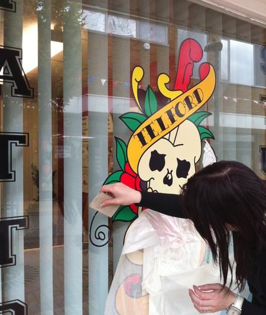 Tattoo Shop Window Signage