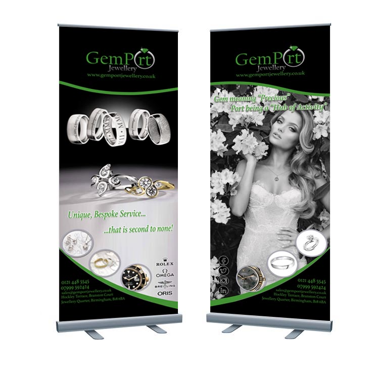 Gemport Jewellery Roller Banners