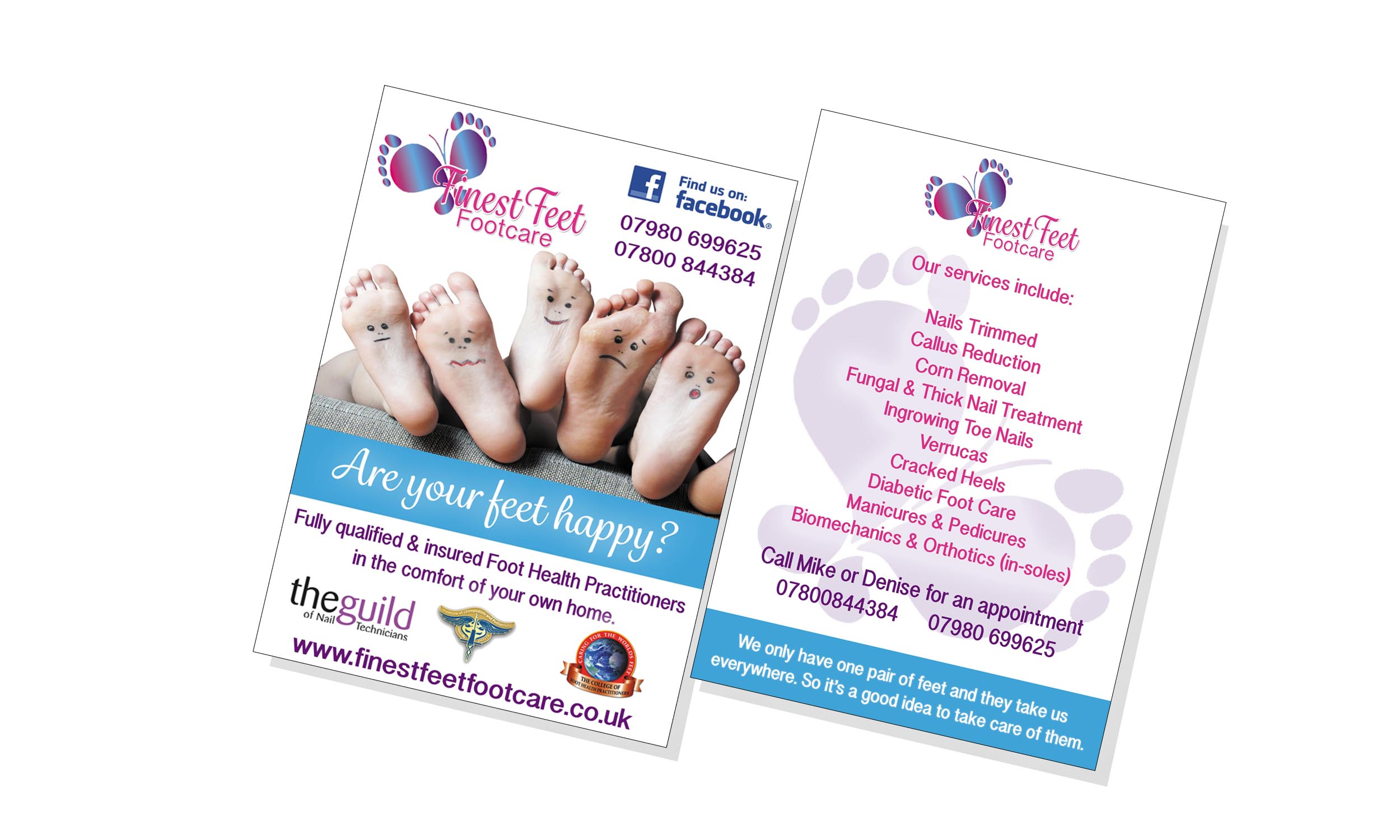 Finest Feet Footcare Leaflet