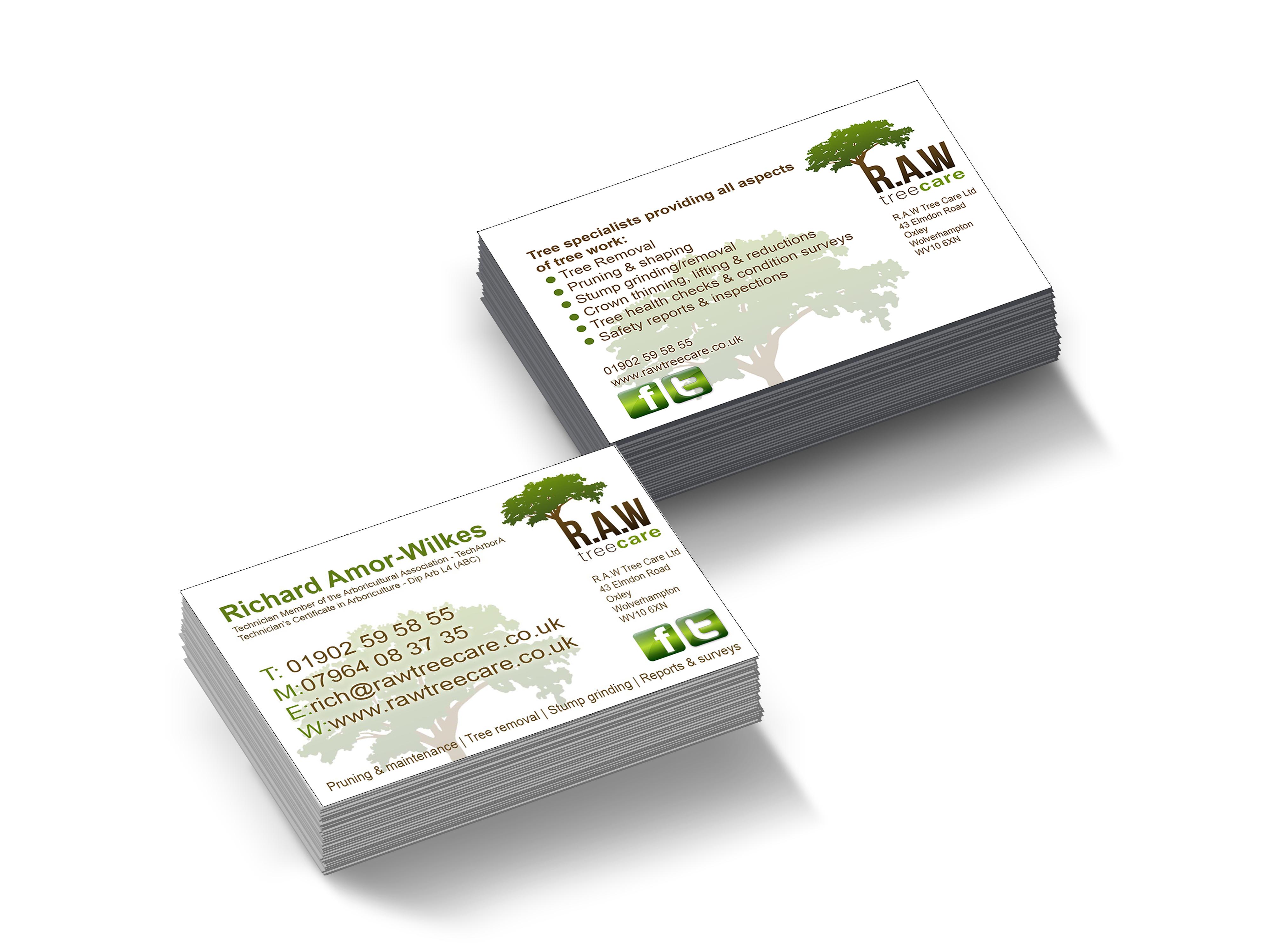 RAW Treecare Business Cards