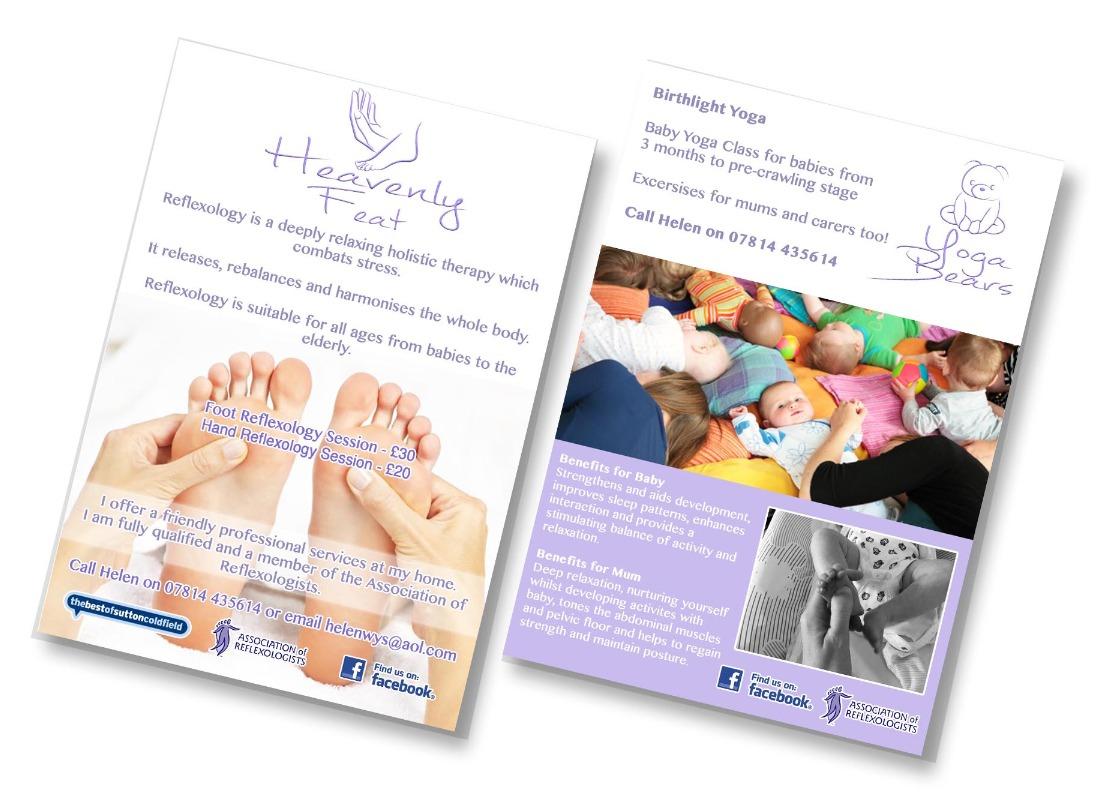 Heavenly Feat/Yoga Bears Leaflet