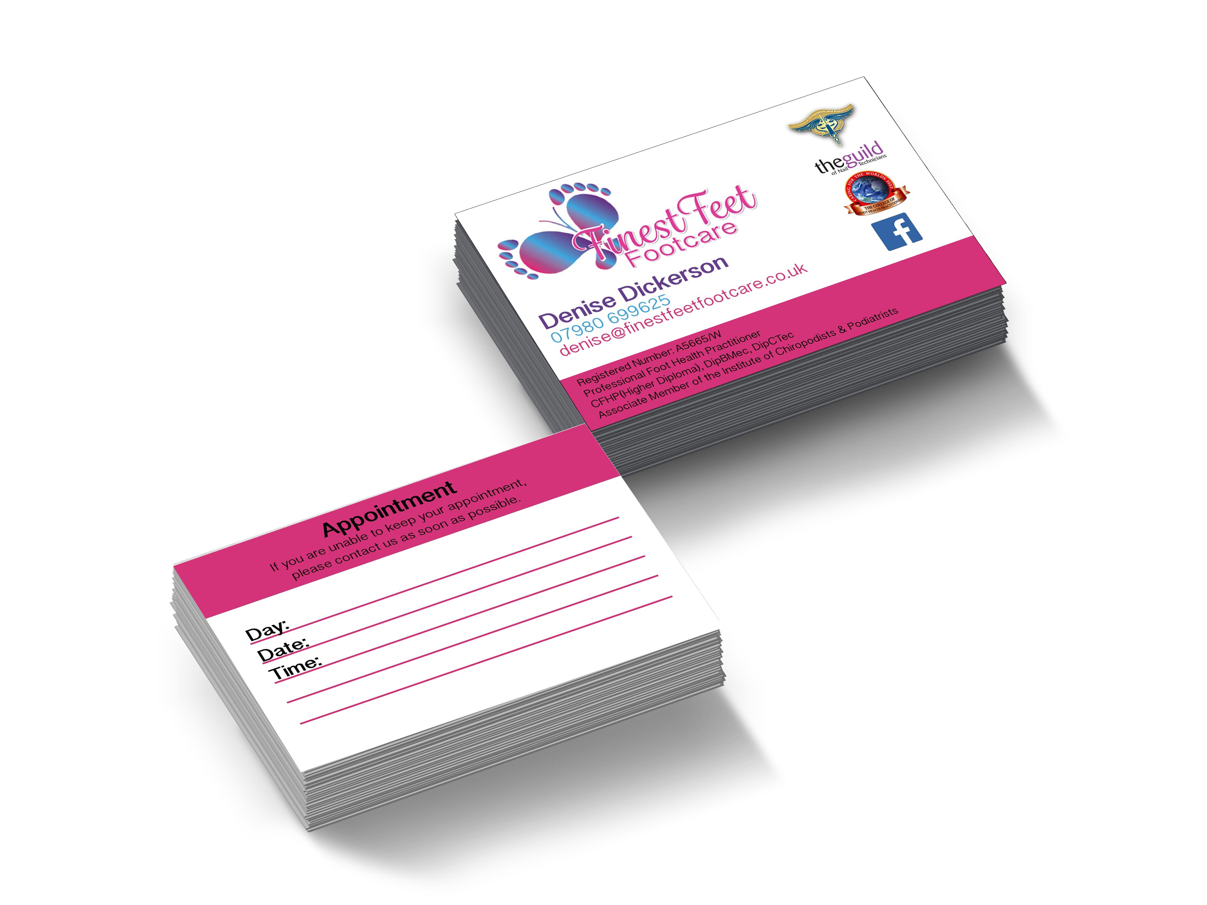 Finest Feet Footcare Business Cards