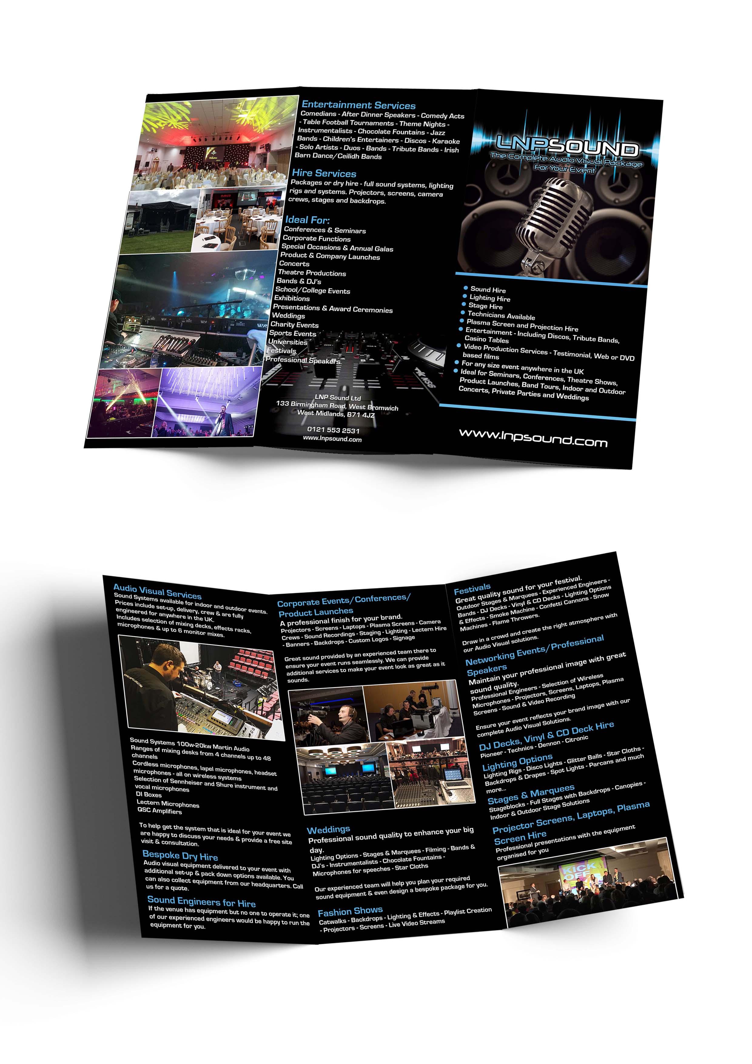 LNP Sound Trifold Brochure