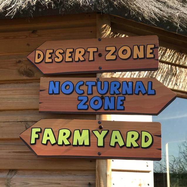Exotic Zoo Signage