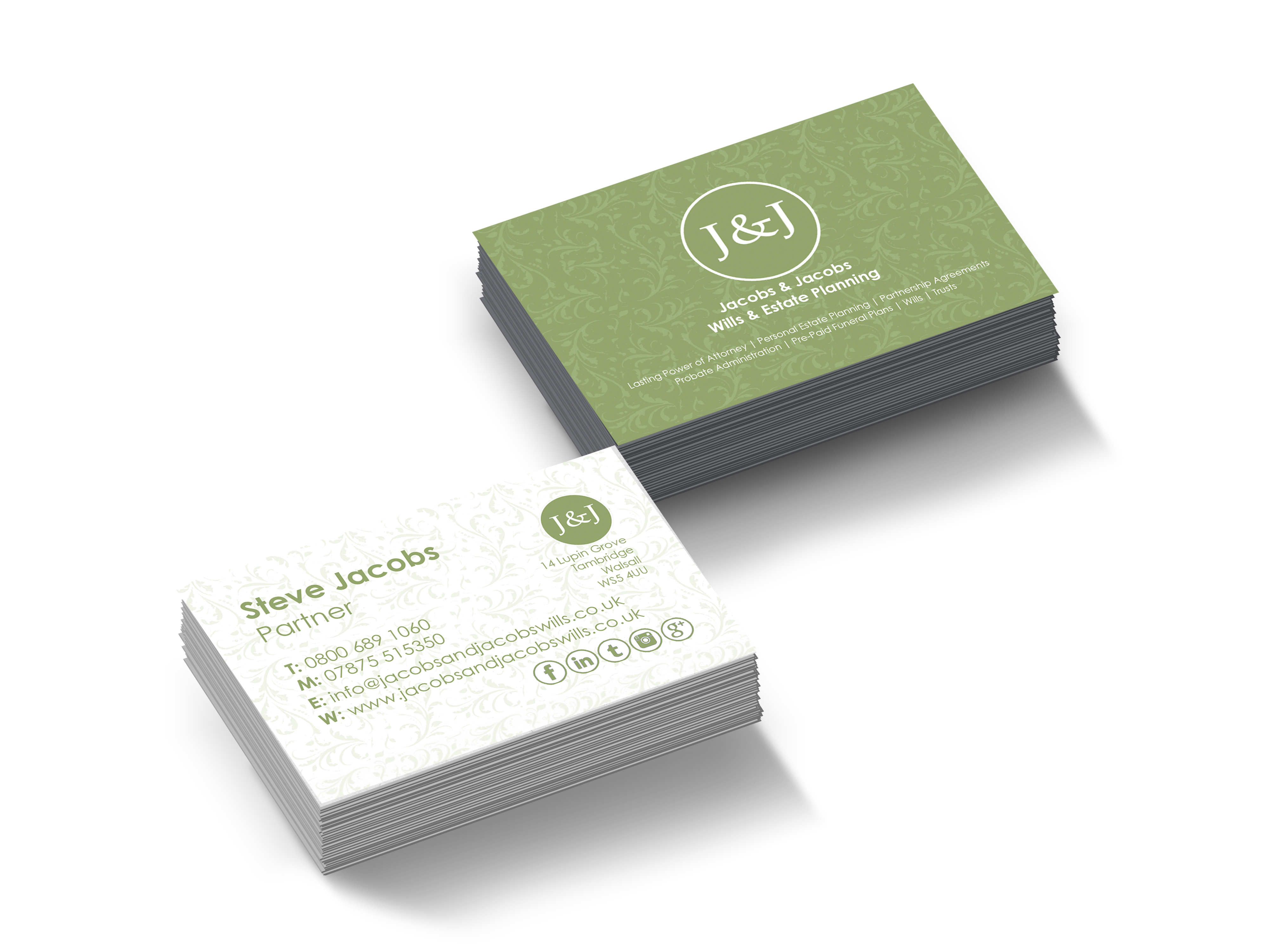 Jacobs & Jacobs Business Cards