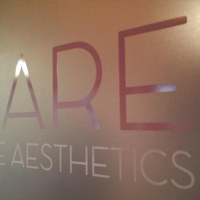 BARE Aesthetics Window Graphics