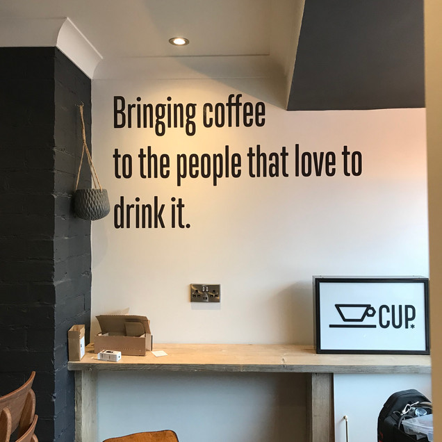 CUP Coffee Shop Wall Graphics
