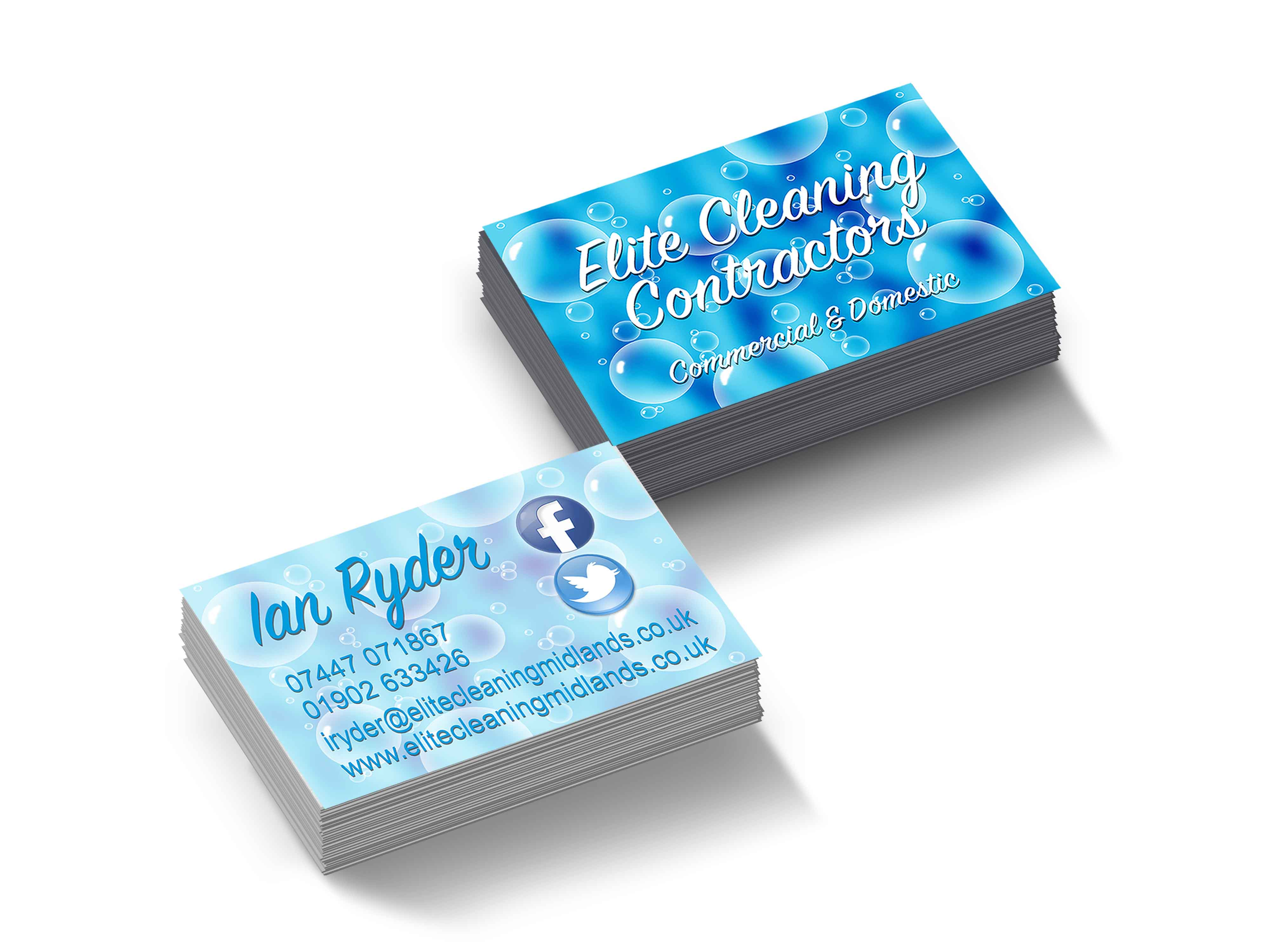 Elite Cleaning Business Cards