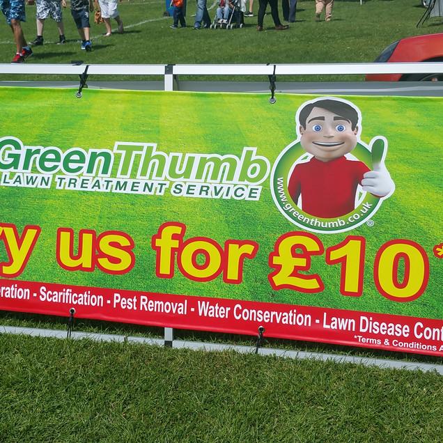 Green Thumb Outdoor Banner