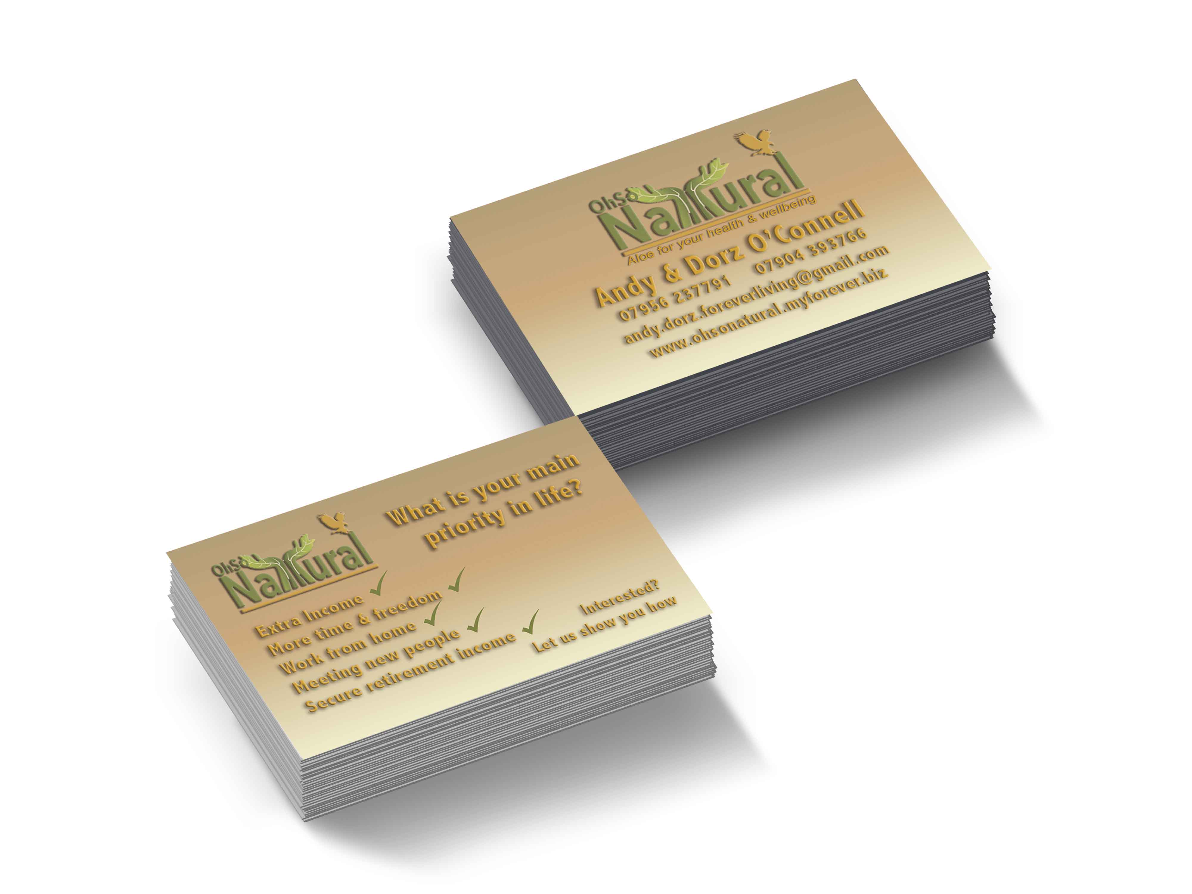 Oh So Natural Business Cards