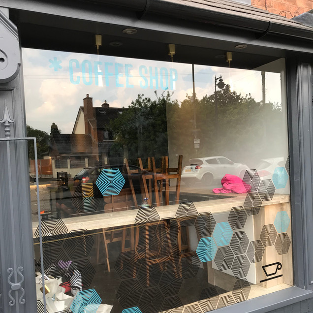 CUP Coffee Shop Window Graphics