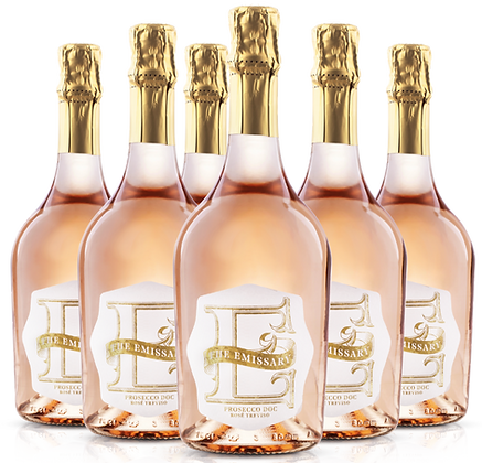 The Emissary Prosecco DOC Rosé Treviso-Case of 6