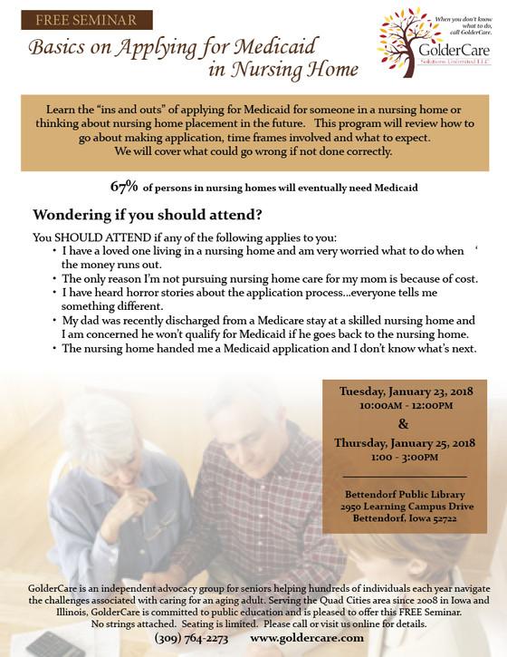 Medicaid Basics - Free Seminar