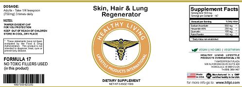 F17 Skin, Hair & Lung Regenerator 150g/5.6oz
