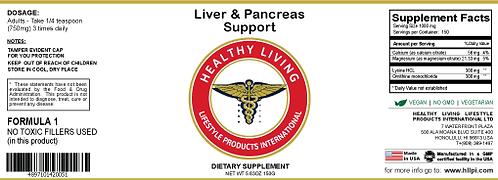 F1 Liver & Pancreas Support 150g/5.6oz