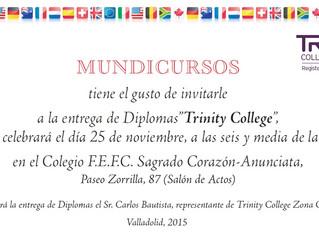 ENTREGA DE DIPLOMAS TRINITY COLLEGE