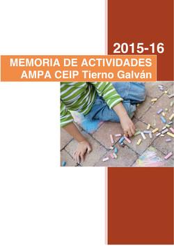 Memoria Actividades 15-16