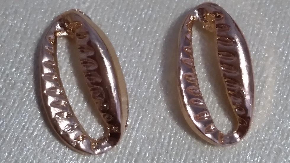 Golden Cowrie Earrings