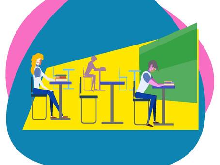 Maioria dos estudantes opta pelo sistema de ensino híbrido quando do retorno de aulas presenciais